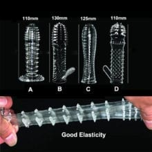 Male 4 Different Types Soft Silicone Clear Cock Condom