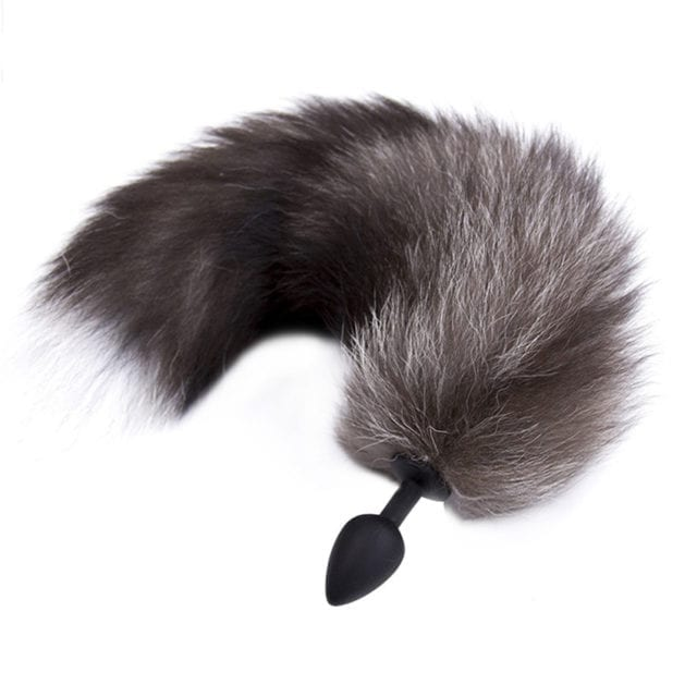 Zerosky Silicone Butt Plug Black Fox Tail Anal Plug Smooth Fur Sex Toys For Women Adult Games Sex Products