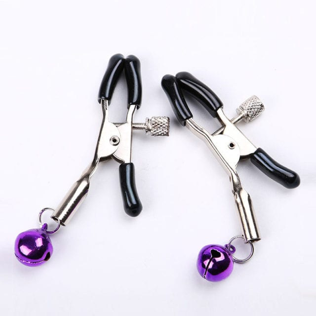 1 Pair Metal Sexy Breast Nipple Clamps Small Bell Adult Game Fetish Flirting Teasing Sex Toys for Couples