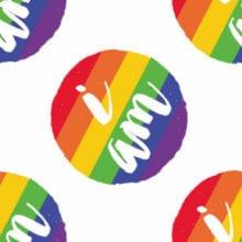 Homosexual Seven Stripes Rainbow Lesbian Pride Flag Circle Sticker