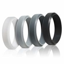 Unisex Multi Color Rings Flexible Rubber Band Silicone Wedding Gift