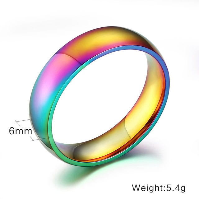 Iridescent Ring   LGBT Multi Color Rings