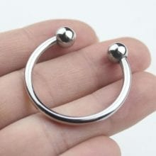 5 Size Gay Delay Time Stainless Steel Silver Penis Ring
