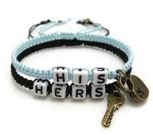 LGBT Multi-Colors Metal Key And Lock Handmade Cotton Rope Bracelets