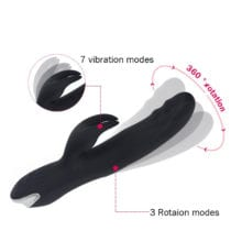 7 speed Polymer Hare Clit Trembler Rechargeable For Lesbian