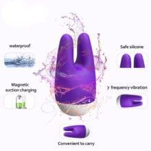 YAFEI USB Recharge Rabbit Vibrator G Spot Vibrators Massager Clitoral Stimulator Adult Sex Products Erotic Toys for Women