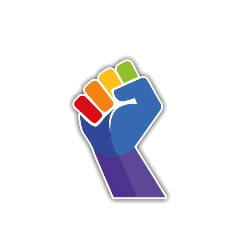 Polyvinyl Gay Pride Brilliant Color Hand Car Sticker