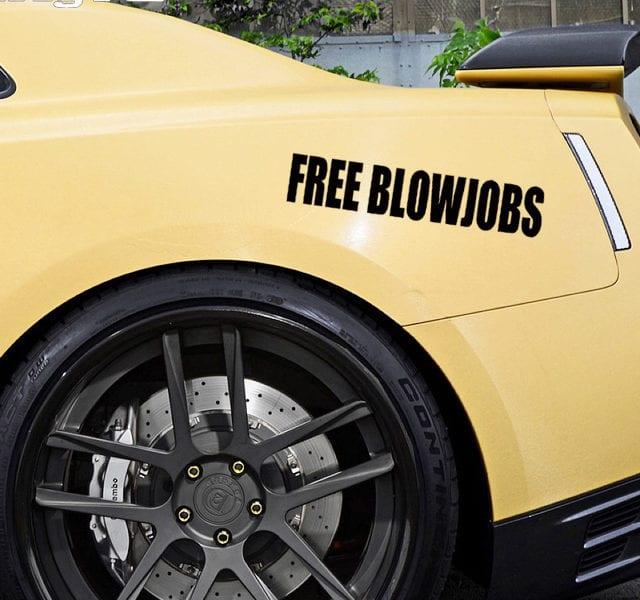 LGBT Free Blowjobs Vinyl Decal Car Bumper Wallpaper