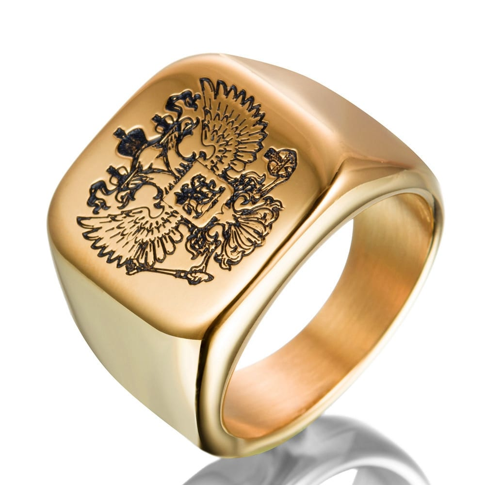 2 Color Double Eagle Stainless Steel Ring For Male