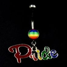 1PC Rainbow Lesbian Pride Belly Button Rings