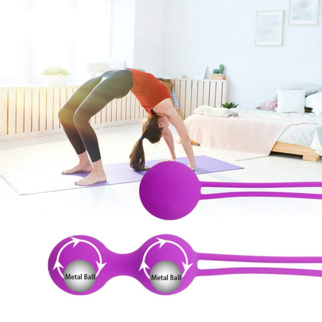 Umania 100% Silicone Kegel Balls,Smart Love Ball for Vaginal Tight Exercise Machine Vibrators,Ben Wa Balls of Sex Toys for Women