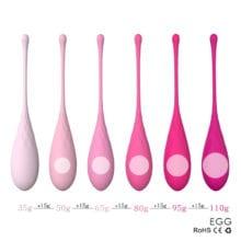 New Design 6pcs/set Smart Kegel Ball Vibrator Vaginal Massager,Ben Wa Ball,Vaginal Tight Exercise Ball Sex Products for Women