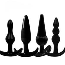 100% Silicone Anal Plug Beads Jelly Toys Skin Feeling Dildo Adult Sex Toys for Men, Sex Products Butt Plug Sex Toys for Woman