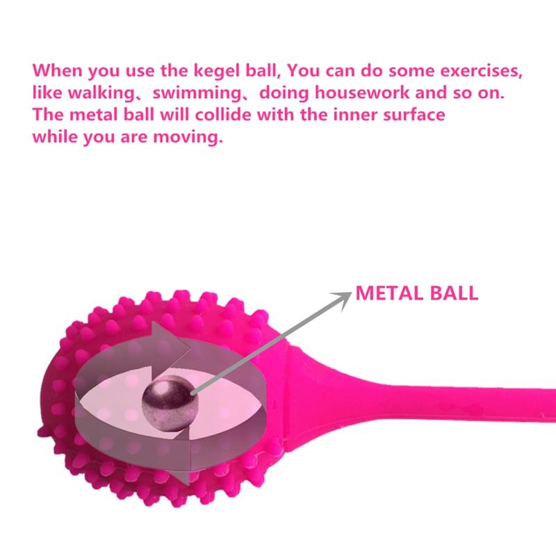 Safe Silicone Smart Ball Kegel Ball Ben Wa Ball Vagina Tighten Exercise Machine Vibrators Vaginal Geisha Ball Sex Toys for Women