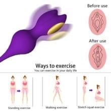 Medical Silicone Vibrating Vagina Balls Kegel Ball Wireless Remote Vagina Tighten Sex Machine Vibrator Geisha Ben Wa Ball Toys