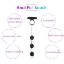 10 Speed Anal Beads Vibrator Intimate Goods Dildo Vibrators Anal Plug Masturbator For Man Erotic Toys Prostata Massage