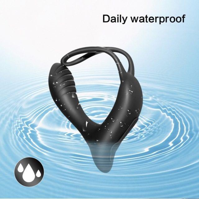 Male Prostate Massage Vibrator Anal Plug Silicone Waterproof Prostate Stimulator Butt Plug Delay Ejaculation Ring Toy For Men