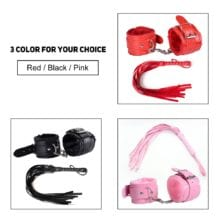 2 Pcs/set PU Leather Handcuff With Whip Sex Toys For Couple Adult Game Bondage Erotic Slave Flogger Sex Exotic Accessories
