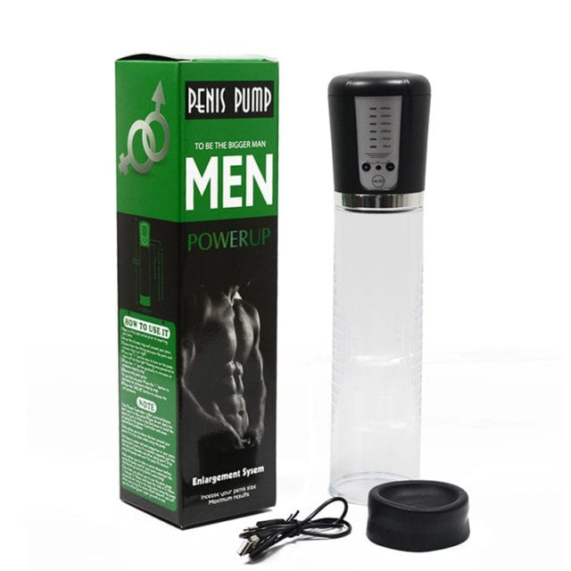 Electric Automatic Penis Pump USB Rechargeable Penis Enlarger Vacuum Pump Powerful Penis Enlargement Extender Sex Toys for Men