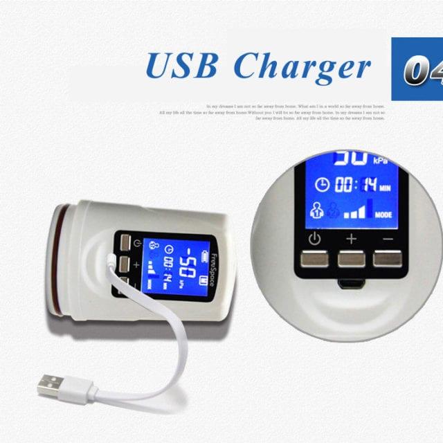 Penis Pump Powerful USB Rechargeable Automatic Penis Enlarger Pump LED Penis Pumps & Enlargement Sex Toys For Men