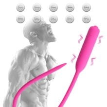 10 Frequency Urethral Vibrator Sound Catheter Male Female Penis Insert Device Silicone Dilator Penis Plug Sex Toys for Men YD229