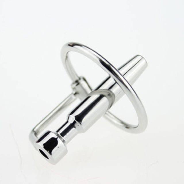 DA-031 45mm Sex Fetish Stainless steel Hollow Urethral Sounding Dilators Penis Plug With Glans Rings Catheters Sex Toys for Men