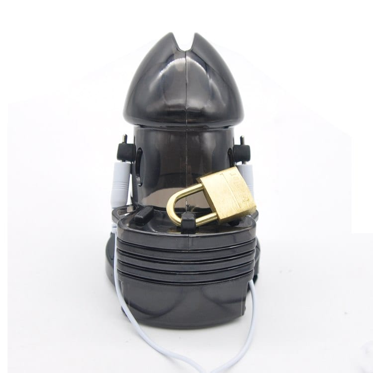Prison Bird New Electro Shock Male Chastity Device Cock Cages Men Lock With adjustableRing Cock  Chastity Belt Cuff Ring A175