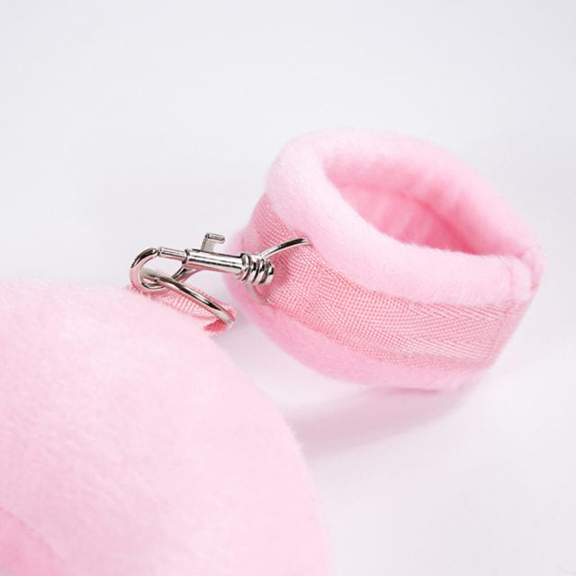 Sexy Bondage Neck Pillow Hands Tied Shackles Handcuffs Ankle Cuffs Exotic Accessories red / pink / black