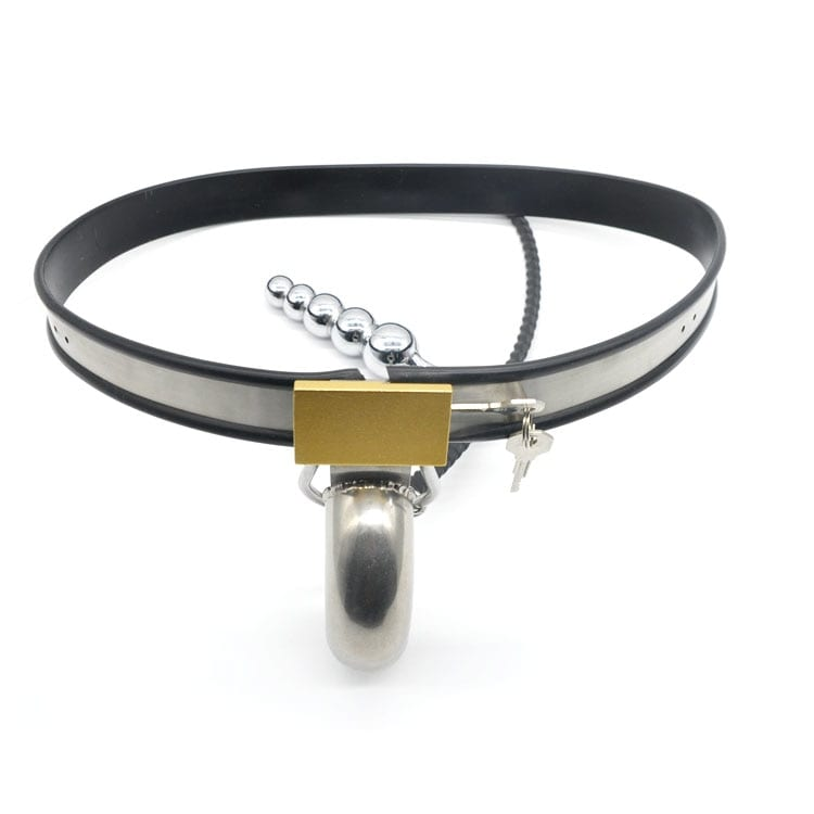 Stainless Steel Male Chastity Cages with Anal Plug,Chastity Belt,Chastity Device,Cock Cage,Penis Lock,Penis Ring,Adult Game,A186