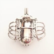 Stainless Steel Male Chastity Belt with Anal Plug,Chastity Cages,Chastity Device,Cock Cage,Penis Lock,Adult Game,Sex Toy,S080-A