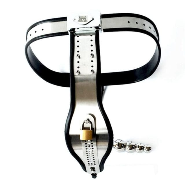 Female Chastity Belt Stainless Steel Adjustable Chastity Device With Anal Plug BDSM Bondage Adult Sex Toys For Woman