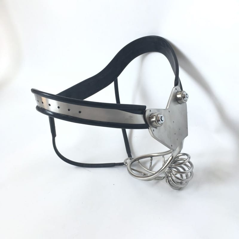 stainless steel male chastity belt summer style Breathable cock cage arc waist male device with anal plug sex produts for man