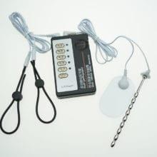 Sex Toys For Men Electric Shock Penis Extender Cock Ring Urethral Sound Plug Electro Stimulator Massage Pads Medical Themed Toys