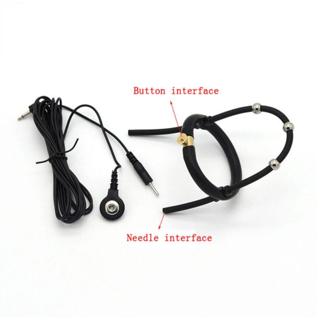Adult Diary Electro Sex Silicon Penis Glans Ring Electro Shock Sex Toys Electrical Stimulate Cockring Medical Themed Toy for Men