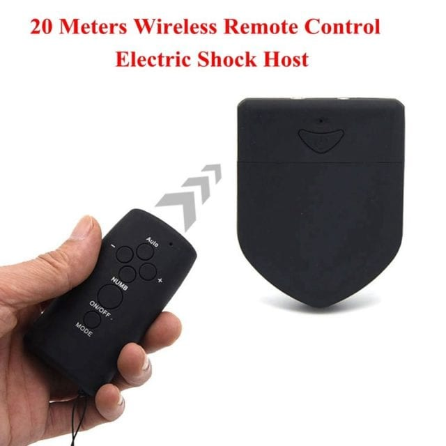 Wireless Remote Control Electric Shock Host Double Output Electro Sex Control Host,Electro Stimulation Sex Toys For Men Women