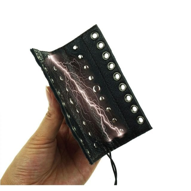 Adult Diary PU Leather Penis Sleeve Electro Sex Toys For Men Penis Electric Stimulation Medical Toys Electro Shock Sex Products
