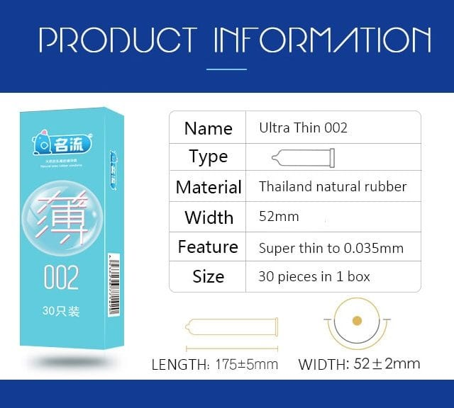 MingLiu 30pcs Pleasure Ultra Thin Rubber Condoms Slim Penis Sleeve Intimate Contraception Condones Kondom Sex Tool For men