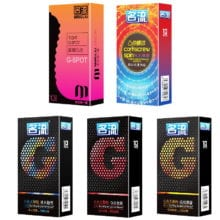 PERSONAGE 10Pcs 5 Types G spot  Delay Ejaculation Big Particle Ultra Thin Condoms For Men