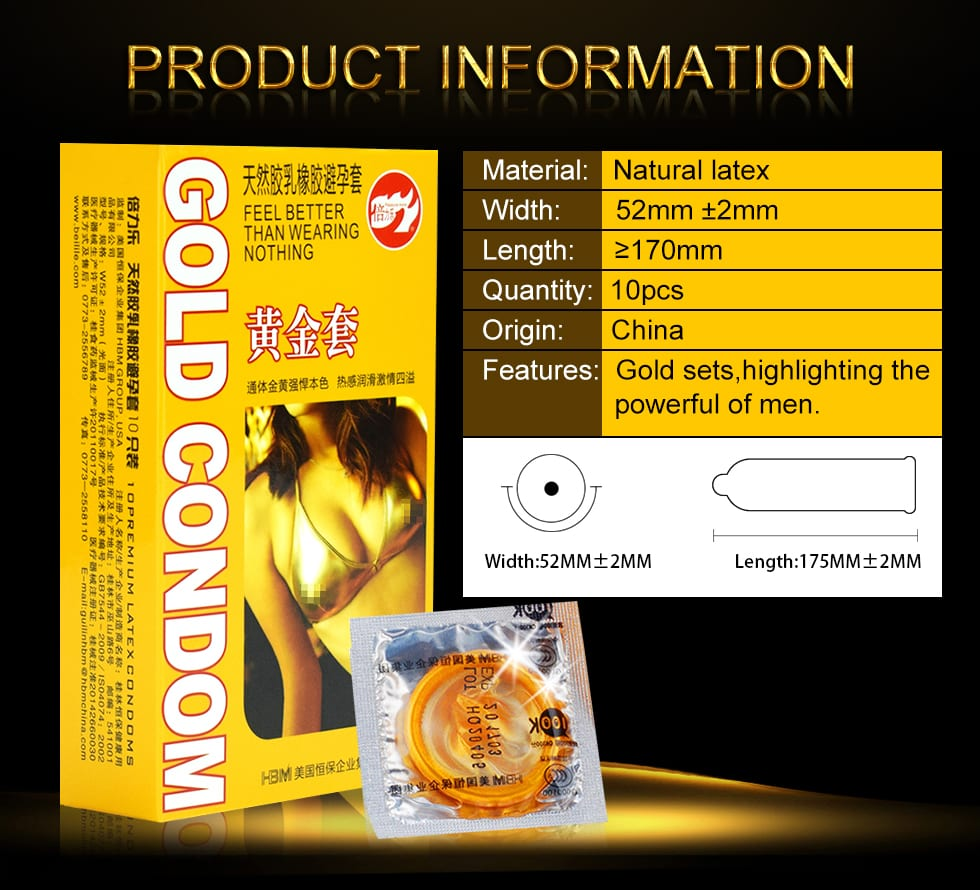Special Condoms For men 10pcs Gold Lasting Long Delay Gay Condom Penis Sleeve Condones Latex Big Seminal Vesicle Adult Supplies