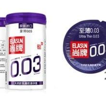 ELASUN 20 PCS condoms for men Ultra thin 0.03mm Natural Latex condom Lubrication Condom Contraception Sex Toys Sex Products