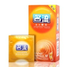 10 Pcs Ultra Thin Lemon Flavor Thread Condoms Strong Stimulation Natural Latex Rubber Penis Sleeve Contraception Tool for Men