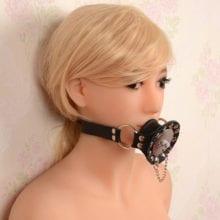 PU Leather Open Mouth Gag For Oral Fixation