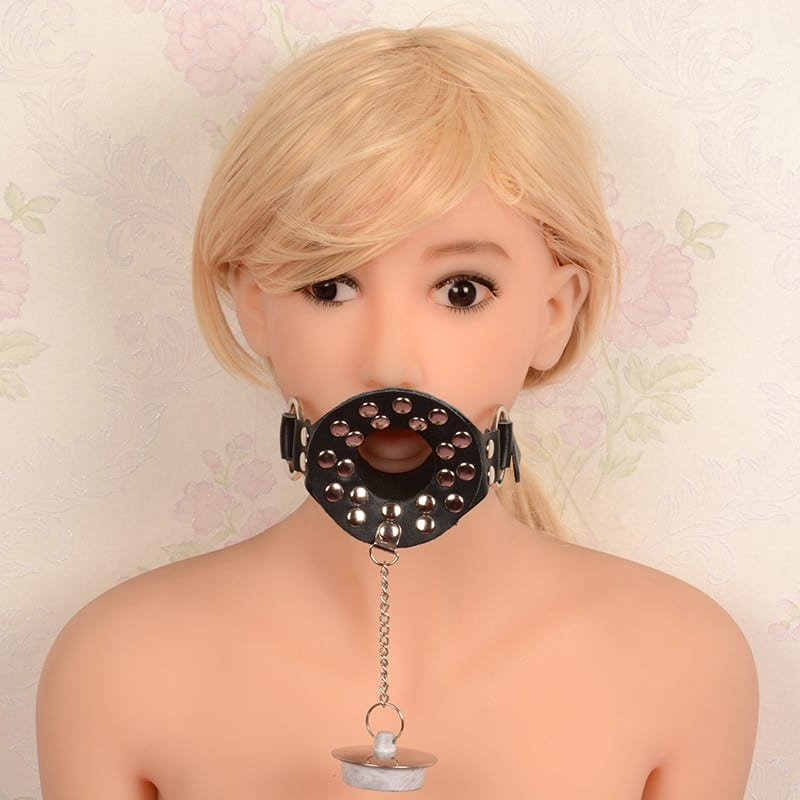 PU Leather Open Mouth Gag Oral Mouth Fetish Slave Bdsm Bondage Harness Adult Sex Accessories for Couples Sex Products