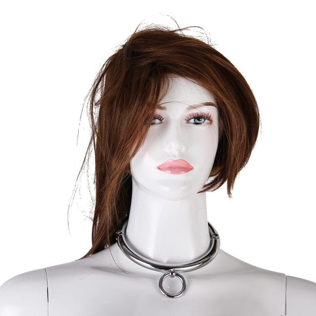 Metal Collar BDSM Bondage Slave Fetish Necklace Stainless Steel Sex Toys for Couples Adult Sex Accessories for Woman