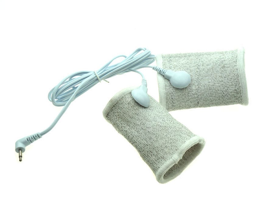 Electric Shock Condutive Fiber Double Penis Rings Cock Rings, Electro Penis Sleeve, Electro Sex Toys Accessories