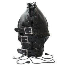 Fetish Unisex Leather Padded Hood Mask Blindfolded,BDSM Cosplay Bondage Restraints,Adult Sex Toys For Couple