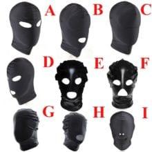 Cosplay Head Mask,Fetish Unisex BDSM Hood Mask Blindfolded,BDSM Restraints Bondage,Halloween Adult Sex Toys For Couple