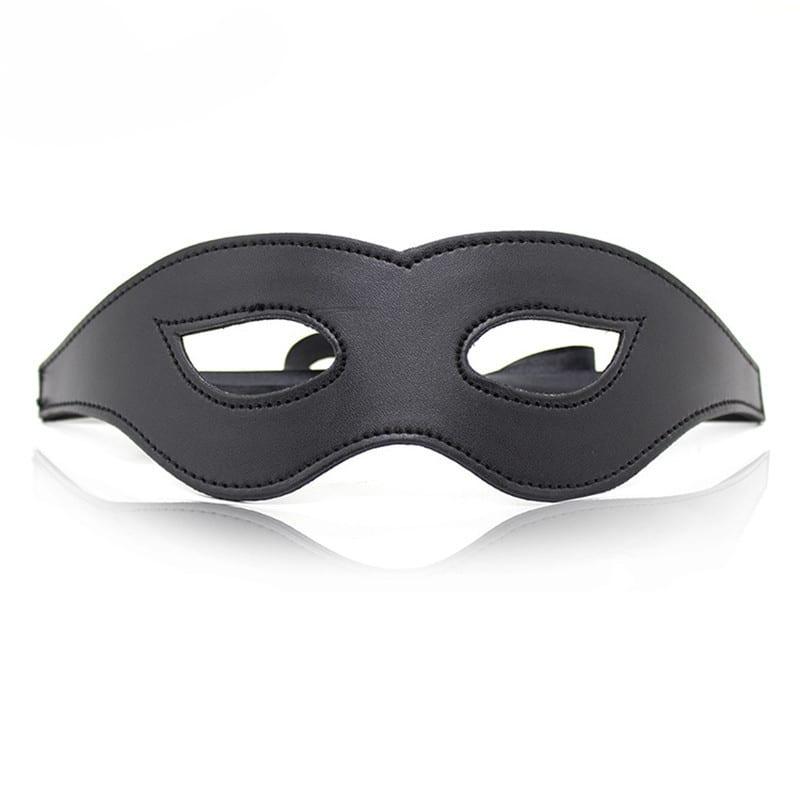 Morease Black Sexy Eye Mask Blindfold Bondage Leather Fetish Slave Erotic Cosplay Bdsm Product For Women Adult Game Sex Toys