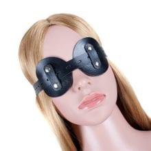 Fetish Leather Bondage Eye Blindfold