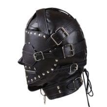 Kinky Metal Stud Finish With Fetish Bondage Leather